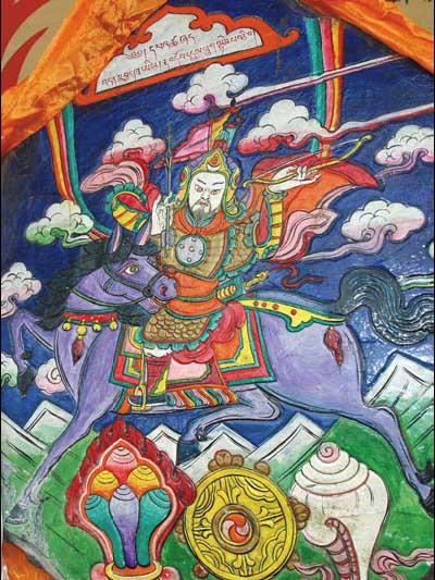 藏族美术工艺:格萨尔彩绘石刻