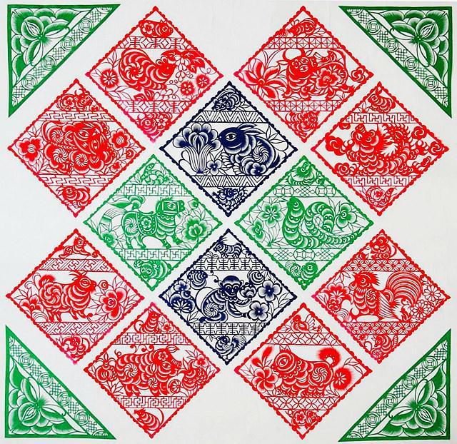 此外,包括满族,傣族,苗族在内的少数民族地区,也有大量特色鲜明的剪纸