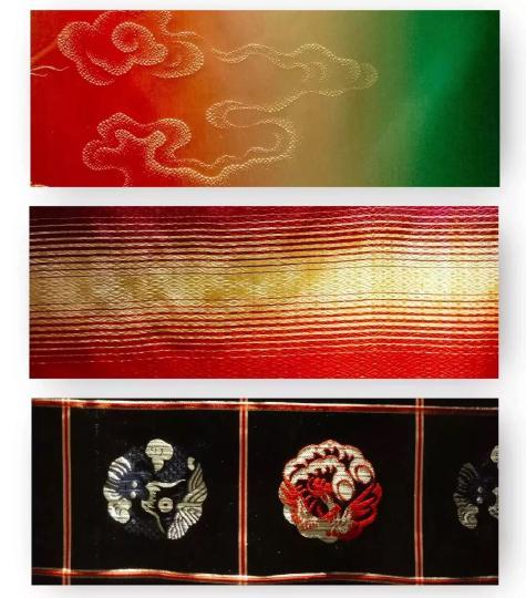 资讯 专题报道  雨丝锦的特点是锦面用白色和其他色彩的经丝组成,色络图片